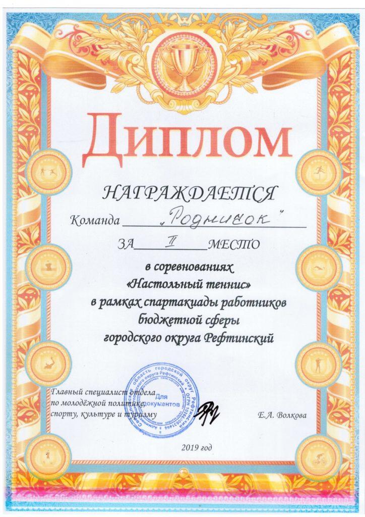 диплом 2 место